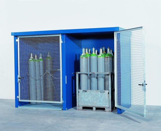 2-Hr Fire Rated Wall Gas Cylinder Storage Cabinet - 24 Cyl.
