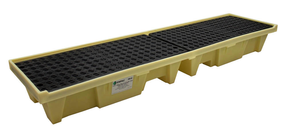 4 Drum Low-Profile In-Line Poly-SpillPallet - 1