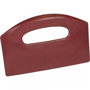 Bench Scraper - metal detectable - red