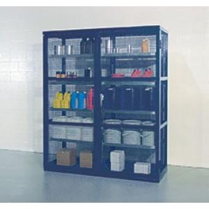 Caged Containment Shelving - Double - 1