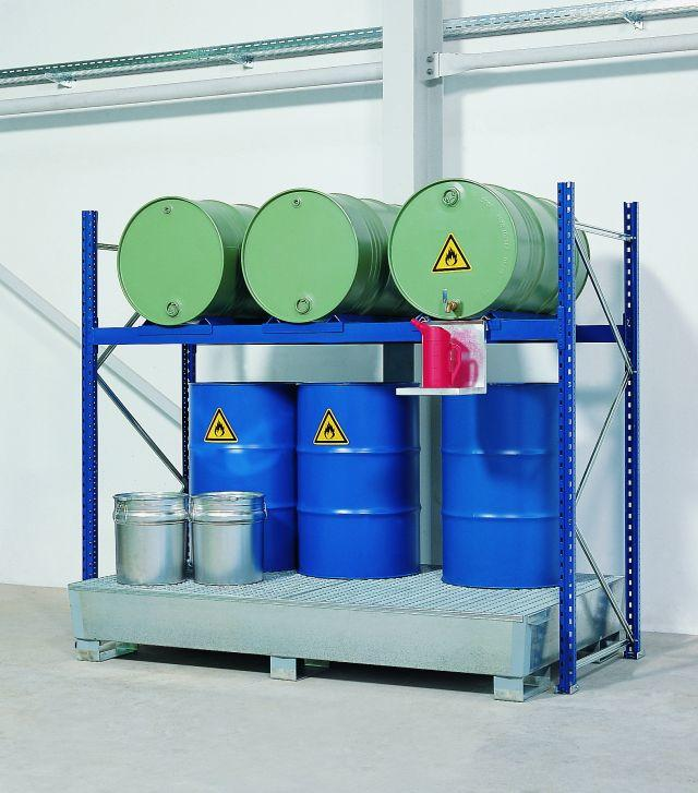 Drum Rack with Spill Sump - 3 Drum Horizontal - 6 Drum Vertical - 2 Levels - 1