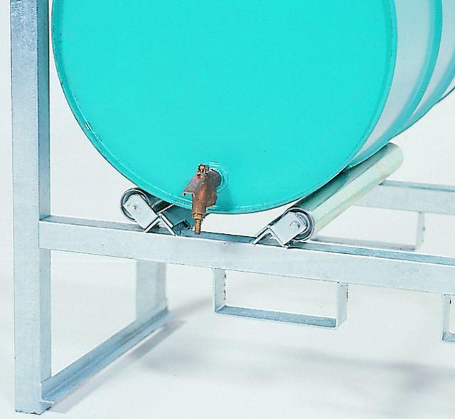 Drum Rack with Spill Sump - Drum Roller Assembly