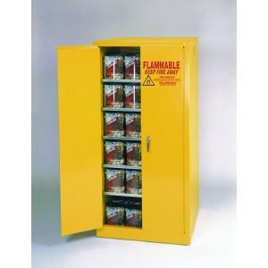 Flammable Paint & Ink Storage Cabinet - 96 Gallon - Manual Doors - Yellow