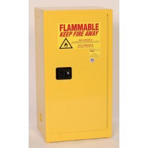 Flammable Safety Cabinet - 16 Gallon - Self-Closing Doors