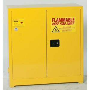 Flammable Safety Cabinet - 30 Gallon - Manual Doors