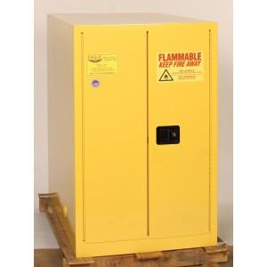 Flammable Safety Cabinet - 55 Gallon - Self-Closing, Horizontal