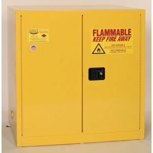 Flammable Safety Cabinet - 60 Gallon - Manual Doors