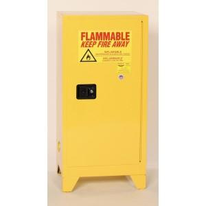 Flammable Safety Cabinet with Legs - 16 Gallon - Self-Closing Doors