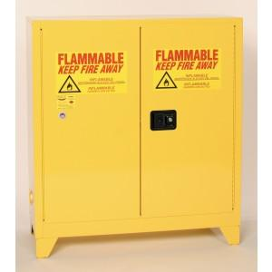 Flammable Safety Cabinet with Legs - 30 Gallon - Manual, Vertical