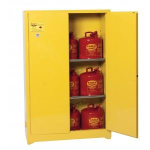 Flammable Safety Cabinet with Legs - 45 Gallon - Manual Doors