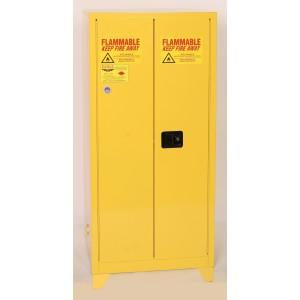 Flammable Safety Cabinet with Legs - 60 Gallon - Manual Doors