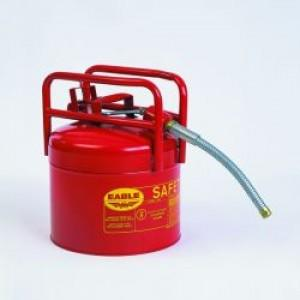 FM Approved - DOT Type II Transport Cans - 5 Gallon - 5/8 Hose