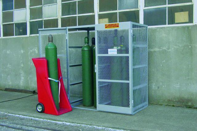 Gas Cylinder Cage - Vertical - 10 to 20 Cylinders - Galvanized