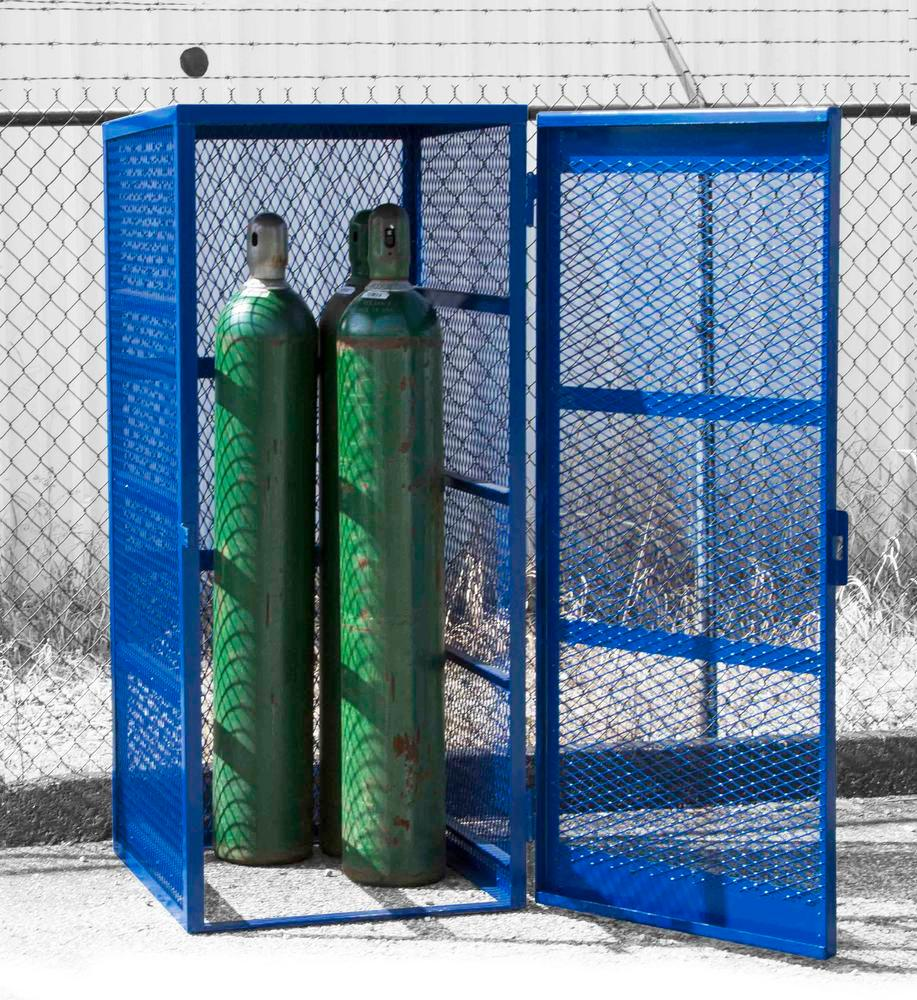 Gas Cylinder Cage - Vertical - 5 to 10 Cylinders