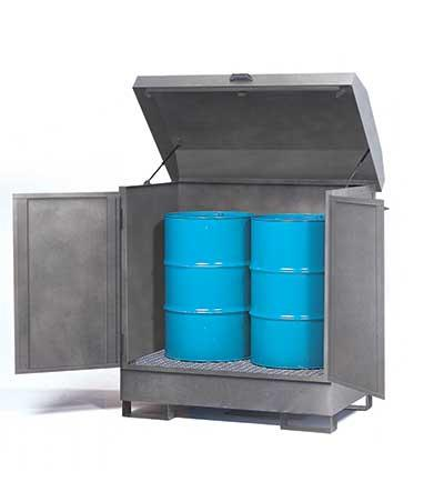 HazMat Station - Galvanized 2 Drum - 1