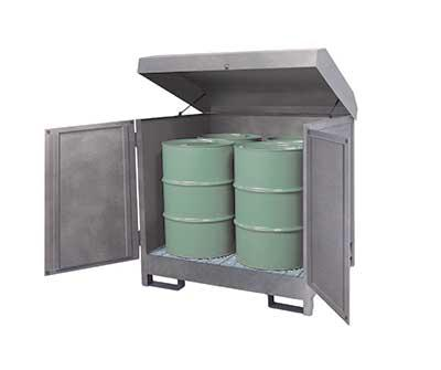 HazMat Station - Stainless Steel 4 Drum