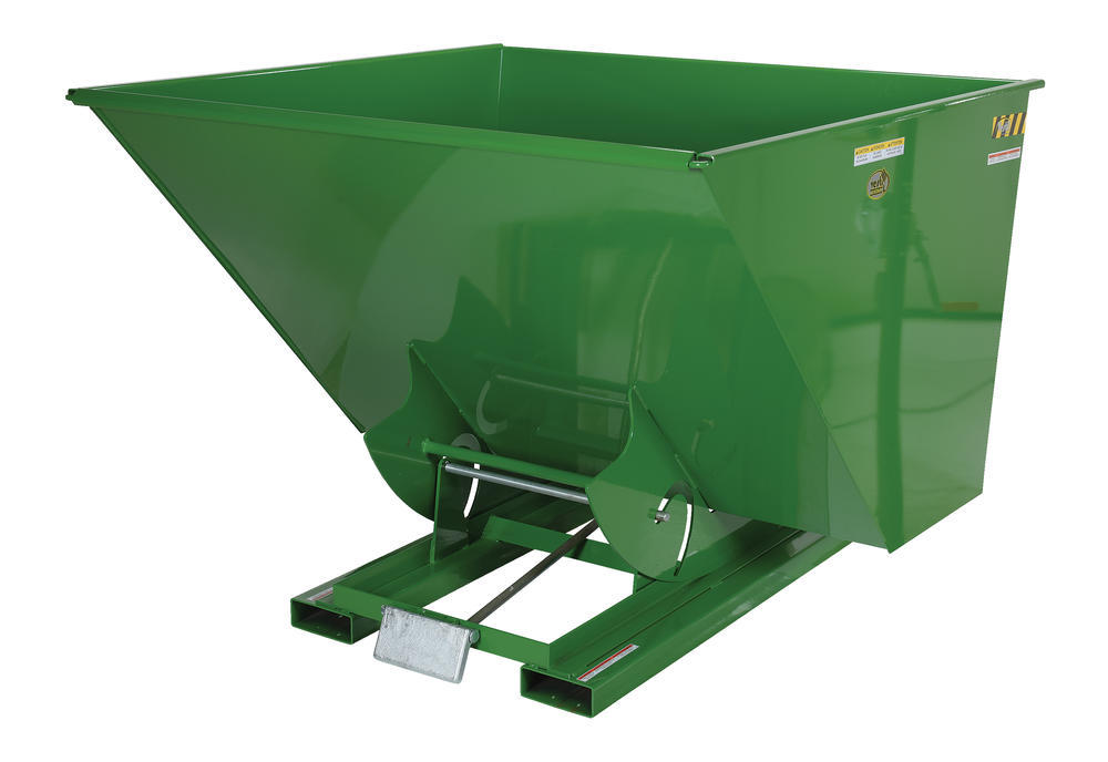 Heavy-Duty, Self-Dumping Hopper - 3.5 cu yard - 6K - Green - 2