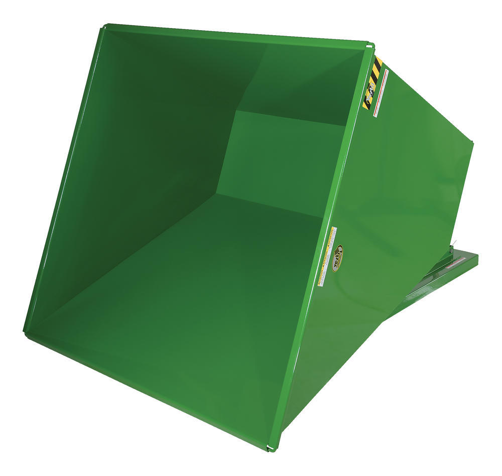 Heavy-Duty, Self-Dumping Hopper - 3.5 cu yard - 6K - Green