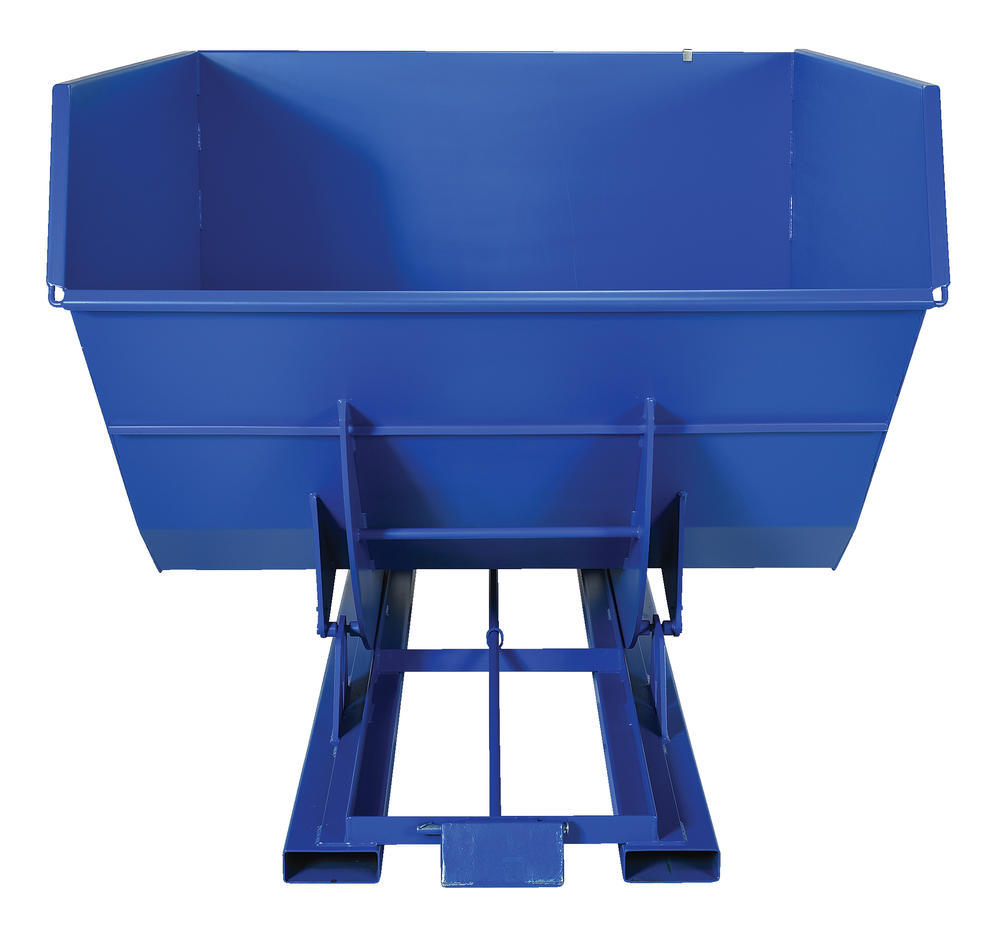 Heavy-Duty, Self-Dumping Hopper - 4 cu yard - 6K - Blue - 3