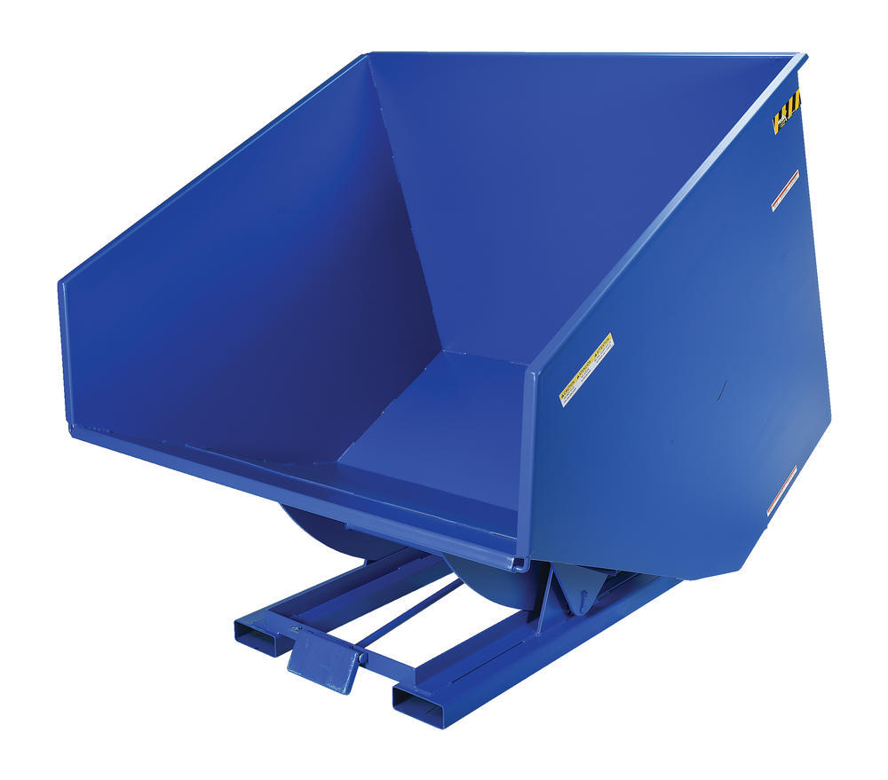 Heavy-Duty, Self-Dumping Hopper - 4 cu yard - 6K - Blue - 5