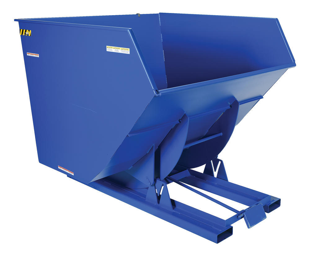 Heavy-Duty, Self-Dumping Hopper - 4 cu yard - 6K - Blue