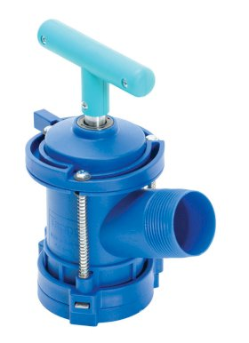 Horizontal Drum Tap - 2 In Bung Size - Empty Drum Contents - Nitrile Rubber Seal - Blue-w280px