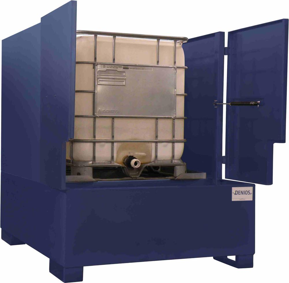 IBC Tote Sump Enclosed w/ Access - Painted