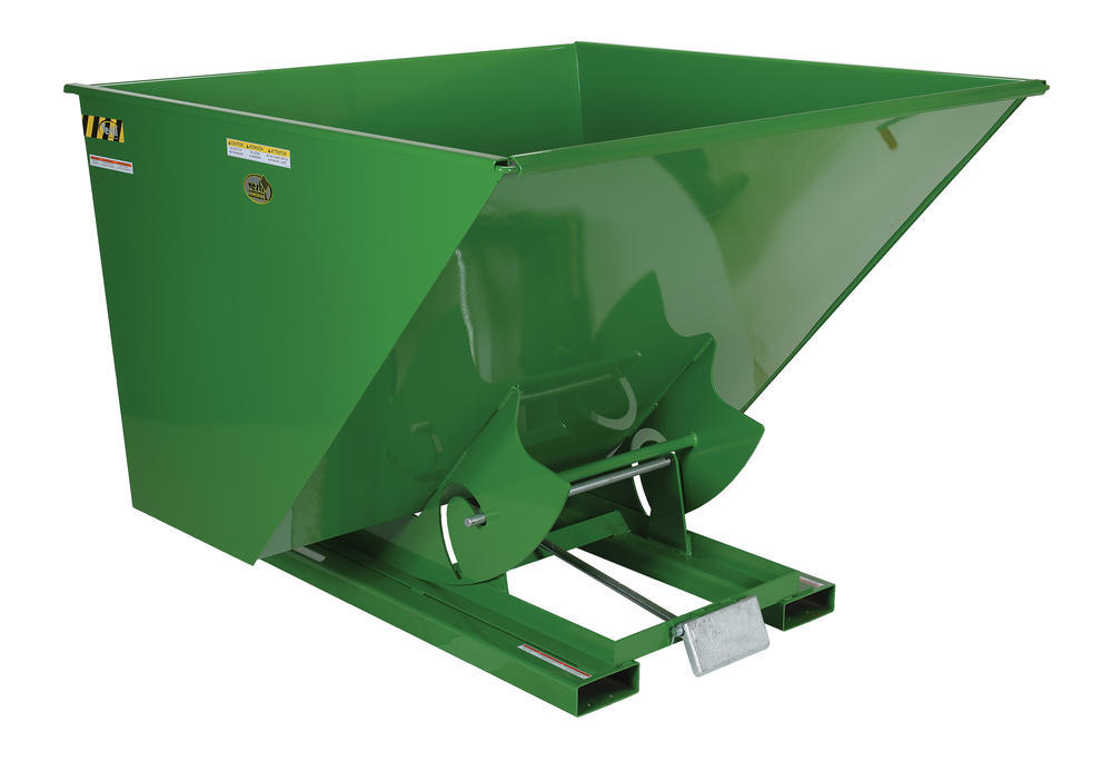 Light-Duty, Self-Dumping Hopper - 1 cu yard - 2K - Green - 1