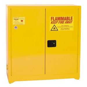 Paint/Ink Storage Cabinets - 40 Gallon Manual Doors Yellow - 1