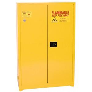 Paint/Ink Storage Cabinets - 60 Gallon Manual Doors Yellow