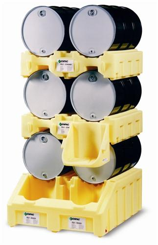 Poly Drum Dispensing System - Two Drum Rack- w/ Containment