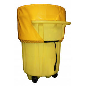 Poly-Top For 95 Gallon Wheeled Overpacks - 1