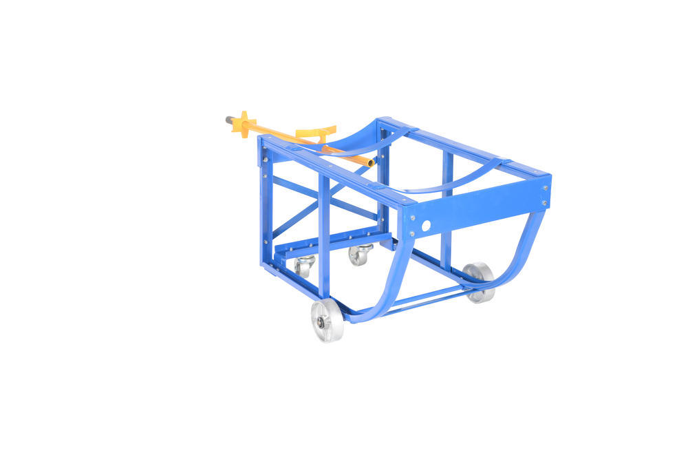 Rotating Drum Cart Steel Wheels 800Lb - 10