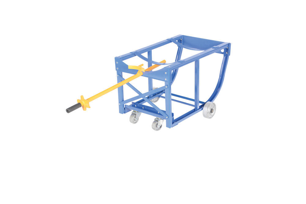 Rotating Drum Cart Steel Wheels 800Lb - 9
