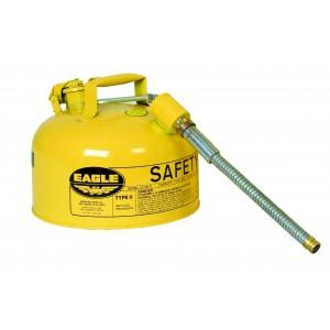 Safety Can with Dual Openings - Diesel 2 Gal.(Yellow)