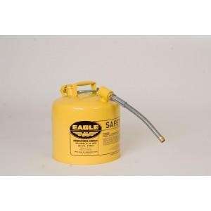 Safety Can with Dual Openings - Diesel 5 Gallon (Yellow)