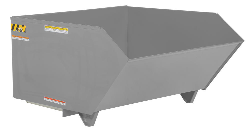 Self Dumping Hopper Hd 1 Cubic Yard Grey