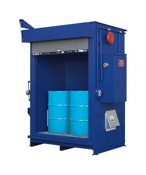 Specialty Lockers - 4 Drum Locker - 90 MPH Wind Rating - 1