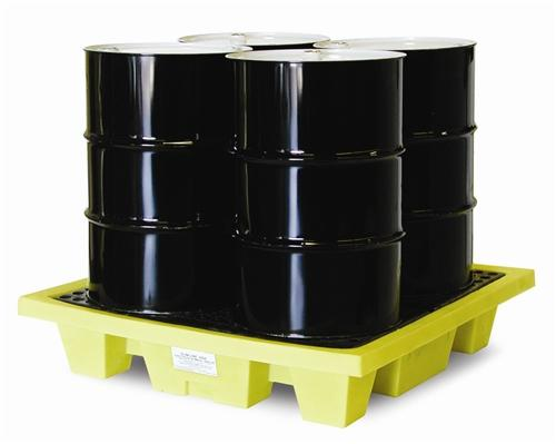 Spill Pallet - Poly 4 Drum Low Profile - 4 Drum Low Profile