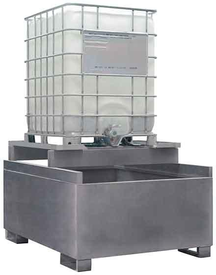Spill Sump - Galvanized Steel 350 Gal IBC Dispensing - 1 IBC