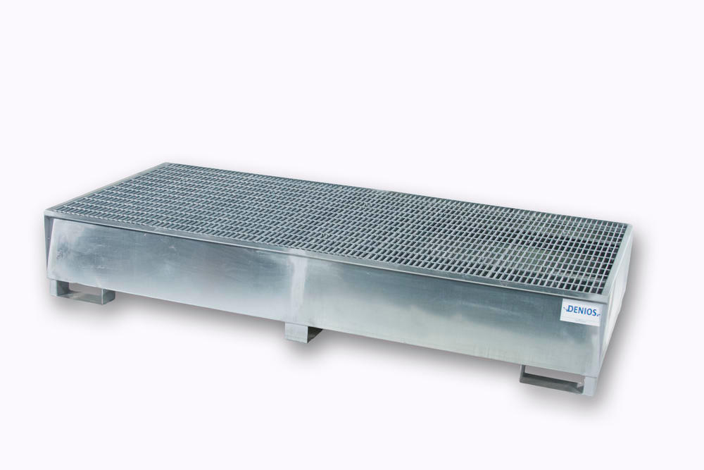 Spill Sump - Galvanized Steel 350 Gal IBC - Double IBC - 1