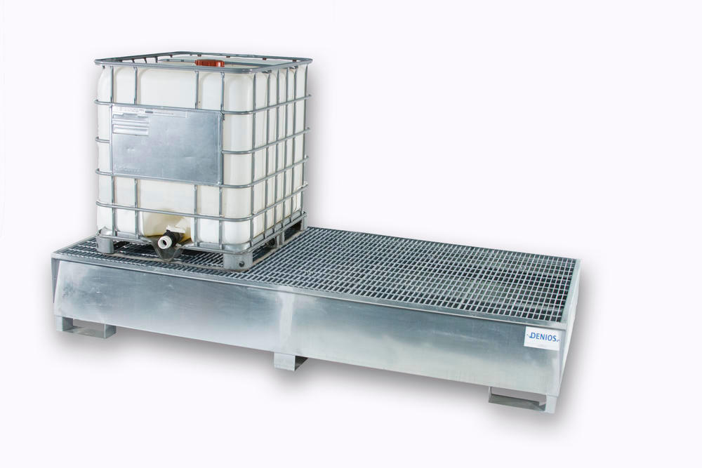 Spill Sump - Galvanized Steel 350 Gal IBC - Double IBC