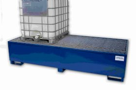 Spill Sump - Painted Steel 500 Gallon 2 IBC Sump-w280px
