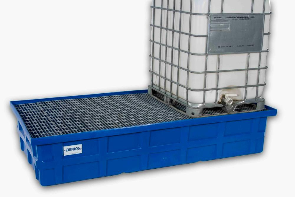 Spill Sump - Poly (2) 350 Gal IBC - Galvanized grating - 1