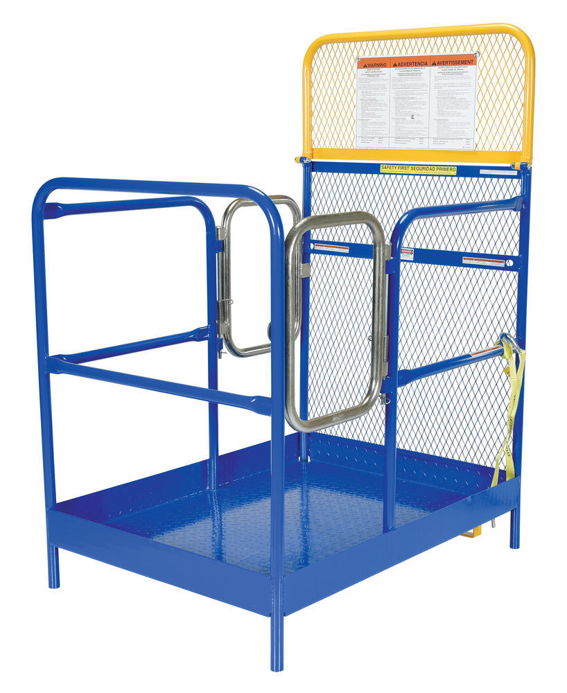 Steel Work Platform with 2 Door Entry - 36 x 48