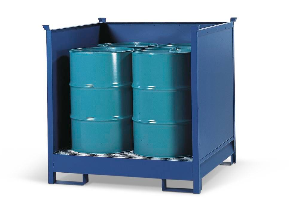 Transport Pallets Stackable With Side Walls 4 Drum