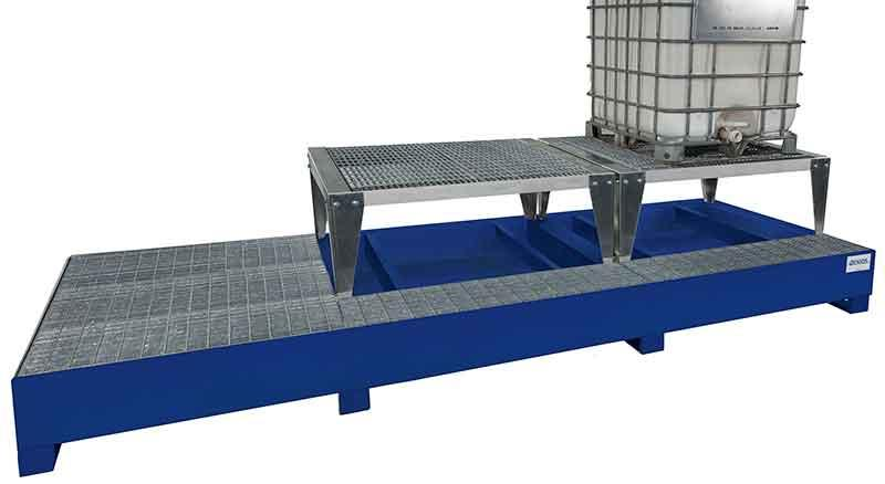 Triple IBC Dispensing Stand - Platform + 2 Stands - Painted
