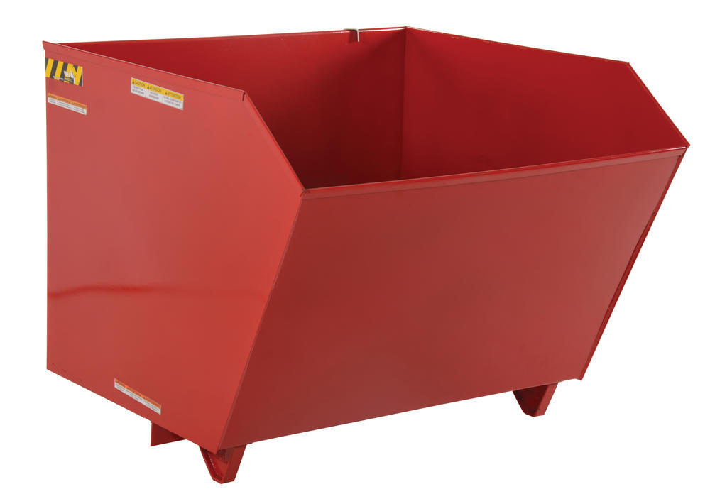 Self Dumping Hopper Md .5 Cu Yard Red - 1