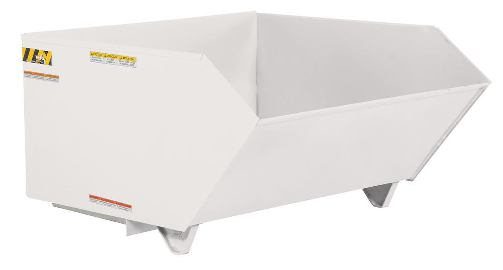 Self Dumping Hopper Md .5 Cu Yard Wht - 1