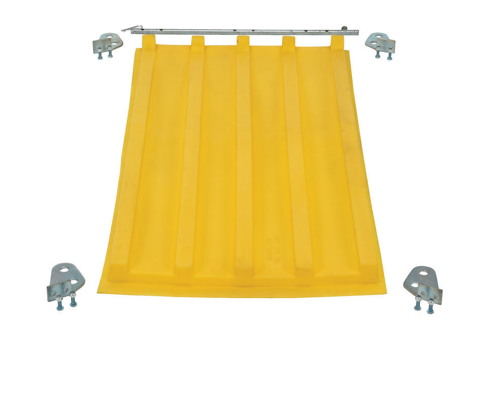 Yellow Poly Lid Size 0.25 Style D Hopper - 3